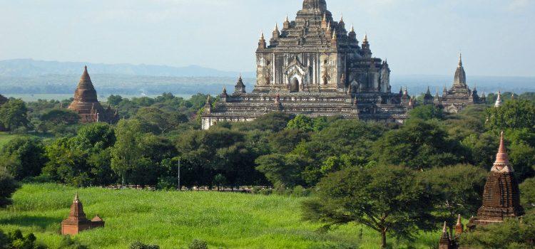 Cycling through Old Bagan