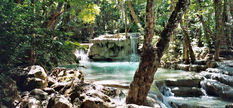The Erawan Falls near Kanchanaburi